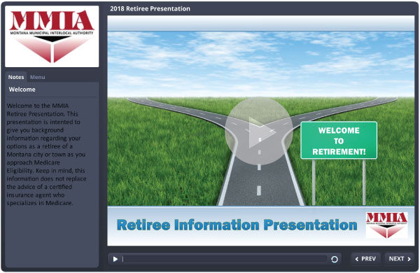 Retiree Information Presentation Home Screen